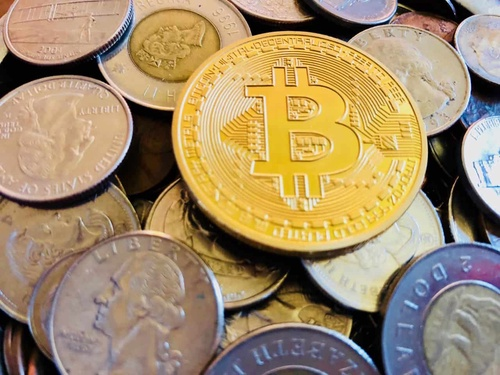 Bitcoin Currency Coins Money